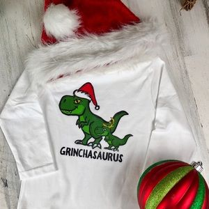 Other - Grinchasaurus Long Sleeve Top